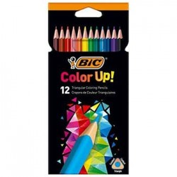 Lapis Cor 18cm Bic Color Up Cx Cartao 12un