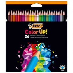 Lapis Cor 18cm Bic Color Up Cx Cartao 24un