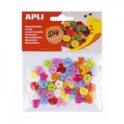 Botoes Plasticos Apli Coloridos 12mm 60un