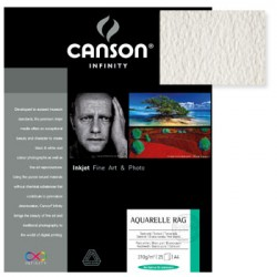 Papel Canson Infinity Aquarelle Rag 0,432x55,9 100% 310g 25F