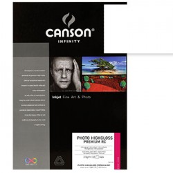 Papel Canson Infinity Photo HighGloss Prem RC A3+ 315g 25Fls