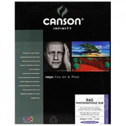 Papel Canson Infinity Rag Photograph Duo A3+ 100% 220g 25Fls