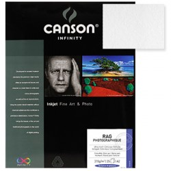 Papel Canson Infinity Rag Photograph A3+ 100% 210gr 25Fls