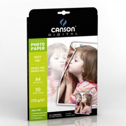 Papel Fotografico Canson Everyday Mate 170gr A4 p/InkJet 50F