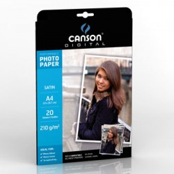 Papel Fotografico Canson Perform Satin 210g A4 p/InkJet 20F