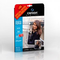 Papel Pack Promo Fotog Canson Perform Satin 210g A4 20+10Fls