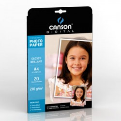 Papel Fotografico Canson Perform Gloss 210g A4 p/InkJet 20F