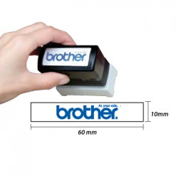 Carimbo BROTHER Preto 6 carimbos de 10 x 60 mm