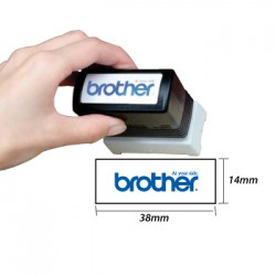Carimbo BROTHER Preto 6 carimbos de 14 x 38 mm