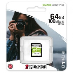 Cartao Memoria KINGSTON 64GB SDHC Canvas Select Plus