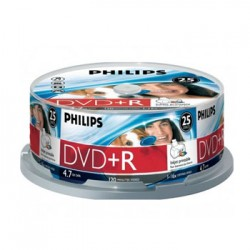 DVD+R Philips 4.7GB 16X Spindle Pack 25 Printable