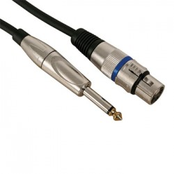 Cabo Audio XLR Femea para Jack 6,35 mm Mono Macho 10mts