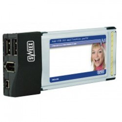 Placa PC Card 2 Port USB 2.0 & 2 Port FireWire